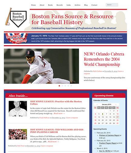 Boston Baseball Website