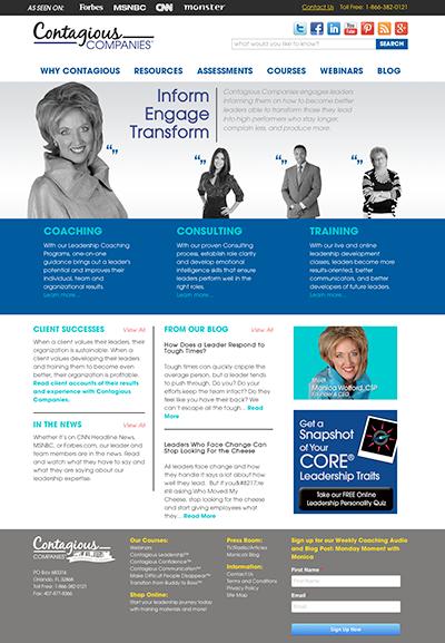 Contagious Companies Web Design