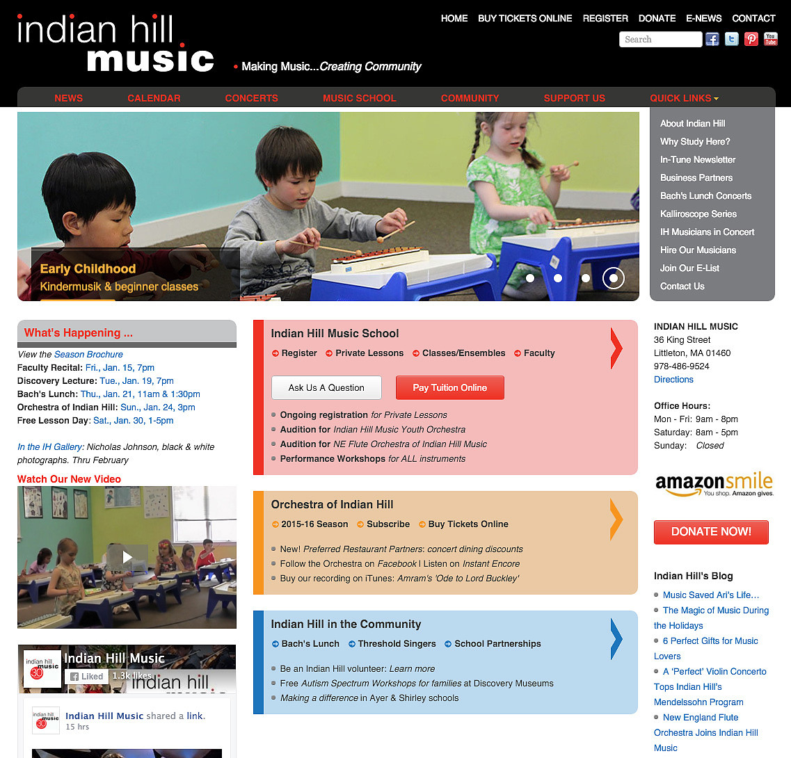 Indian Hill Music Web Design